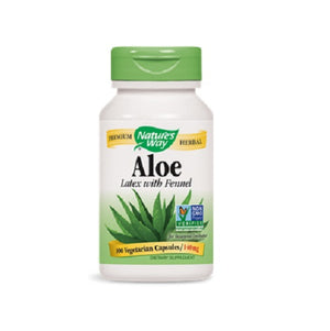 Aloe Vera Latex with fennel,100 Veg caps by Nature's Way (2584001773653)