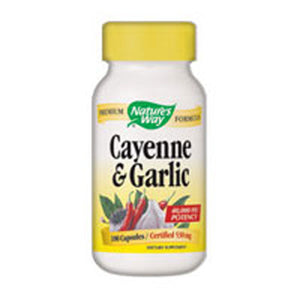 Cayenne Garlic 100 Caps by Nature's Way, (2584003870805)
