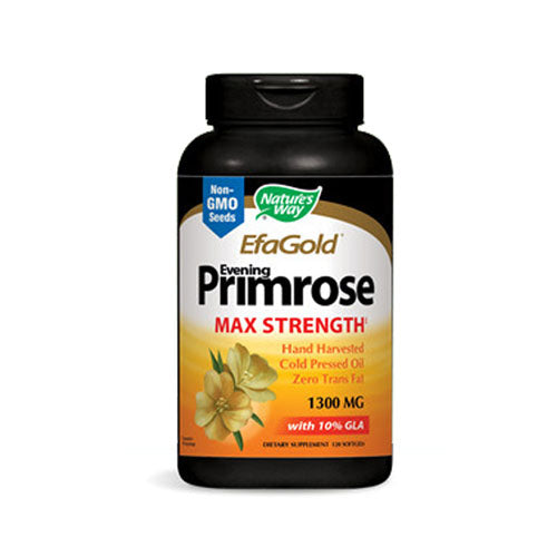 Evening Primrose Oil Cold Pressed High Potency Gold 120 Sftgls by Nature's Way