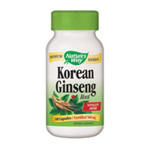 Ginseng Korean White KOREAN WHITE, 100 CAP by Nature's Way (2584007082069)