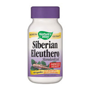 Siberian Eleuthero Standardized Extract 60 Caps by Nature's Way (2584007245909)