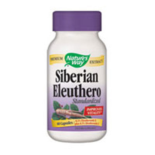Siberian Eleuthero Standardized Extract 60 Caps by Nature's Way