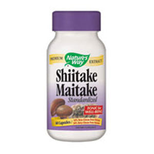 Shiitake & Maitake Standardized Extracts 60 Caps by Nature's Way