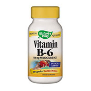 Vitamin B-6 100 Caps by Nature's Way (2584012423253)