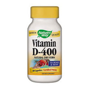 Vitamin D Dry 100 Caps by Nature's Way (2584012783701)