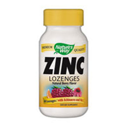 Zinc 60 LOZENGES WITH ECHINACEA & VITAMIN C by Nature's Way