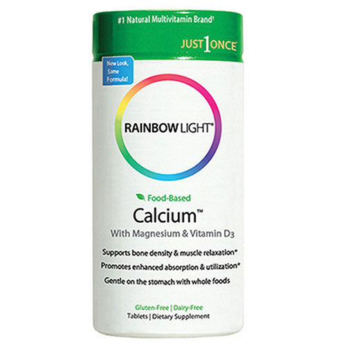 Food Based Calcium 180 Tabs by Rainbow Light