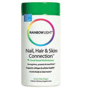 Nail - Hair and Skin Connection 60 Tabs by Rainbow Light (2584016945237)