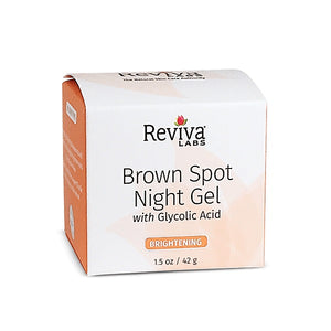 Brown Spot Night Gel with Glycolic Acid 1.25 Oz by Reviva (2584017240149)