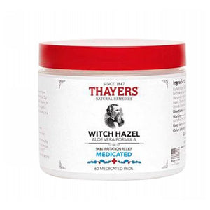 Witch Hazel Pads Medicated 60 Pads by Thayers