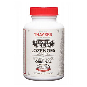 Slippery Elm Lozenges SUGAR FREE ORIGINAL, 100 LOZ by Thayers (2584018550869)