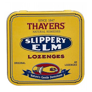 Slippery Elm Lozenges Plain, 42 loz by Thayers (2588712304725)