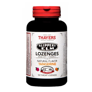 Slippery Elm Lozenges Rose Hips Tangerine 150 Loz by Thayers (2614498000981)