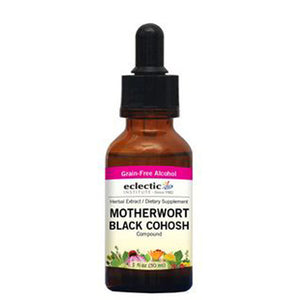 Motherwort - Black Cohosh 1 Oz with Alcohol by Eclectic Institute Inc (2584042340437)