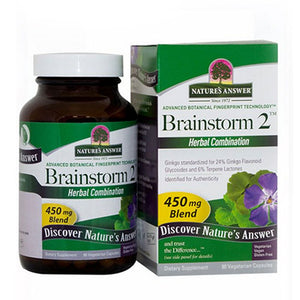 Brainstorm - 2 90 Vcaps by Nature's Answer (2588781412437)