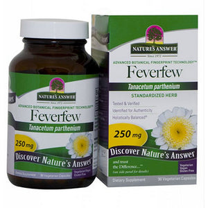 Feverfew Herb Standardized 90 Vcaps by Nature's Answer (2588783280213)