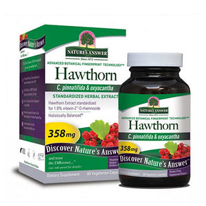 Hawthorn Leaf Standardized 60 Veg Caps by Nature's Answer (2588783870037)