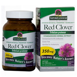 Red Clover Tops Standardized 60 Veg Caps by Nature's Answer (2588784361557)