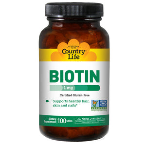 Biotin 100 Tabs by Country Life (2584071995477)