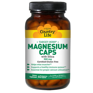 Magnesium with Silica TARGET-MINS 60 Caps by Country Life (2584075665493)
