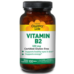 Vitamin B-2 100 Tabs by Country Life (2584078418005)