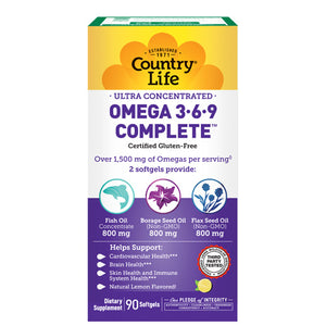 Ultra Omega 3-6-9 90 Softgel by Country Life