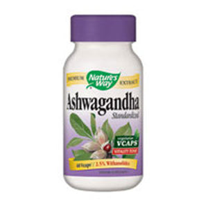 Ashwagandha Standardized Extract 60 Vegicaps by Nature's Way