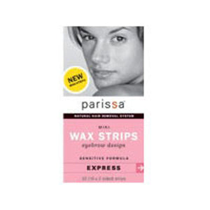 Wax Strips Mini Eyebrow, 32(16X2 sided)ct by Parissa (2584207130709)