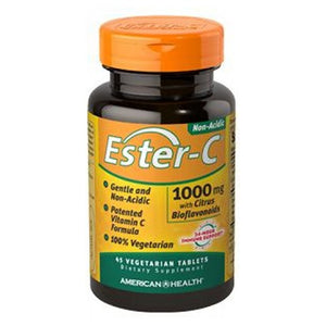 Ester-c With Citrus Bioflavonoids 45 Vegitabs by American Health, (2584196579413)
