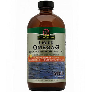 Liquid Omega 3 Natural Orange Flavor,16 Oz by Nature's Answer (2584197431381)
