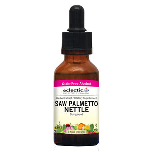 Saw Palmetto Nettles 2 Oz with Alcohol by Eclectic Institute Inc (2584238948437)