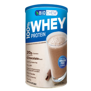 100% Whey Protein Powder Chocolate Fudge 15.4 oz by Biochem (2587246100565)