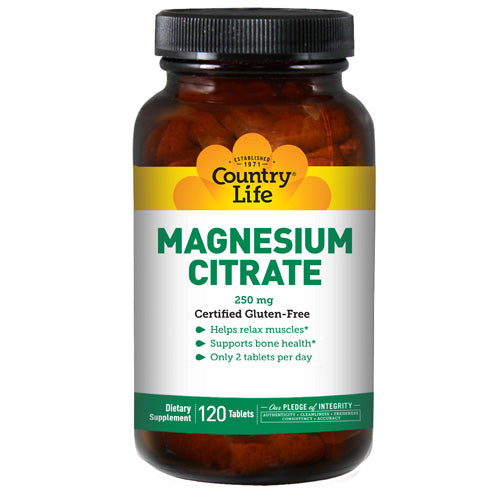 Magnesium Citrate 120 Tabs by Country Life