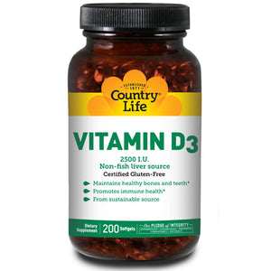 Vitamin D3 60 Softgels by Country Life (2587249639509)