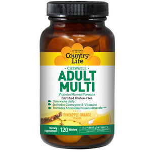Adult Multi 120 Chewable Wafers by Country Life (2587250196565)