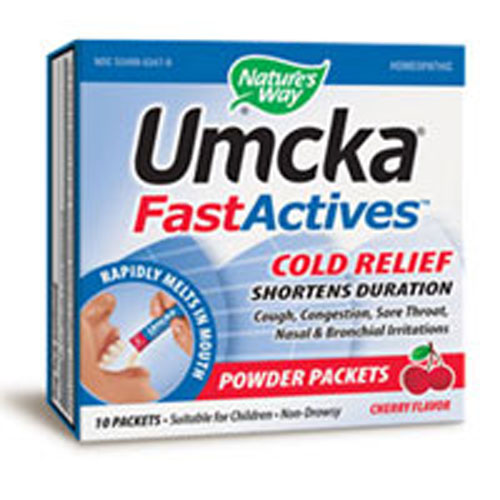 Umcka FastActives Cherry ColdCare 10 Ct by Nature's Way