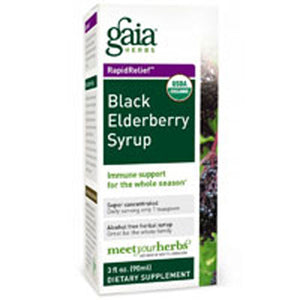 Black Elderberry Syrup 3 oz by Gaia Herbs (2589080649813)