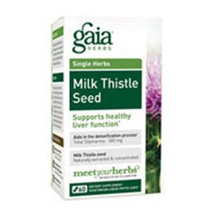 Milk Thistle Seed 60 Caps by Gaia Herbs (2589080125525)