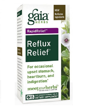 Reflux Relief 45 Tabs by Gaia Herbs