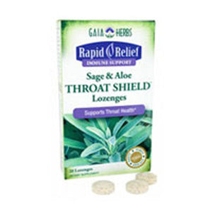 Throat Shield Sage & Aloe Lozenges 20 CT by Gaia Herbs (2589080518741)