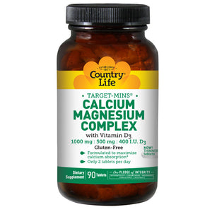 Calcium Magnesium Complex Vitamin D3 90 Tabs by Country Life (2587276968021)