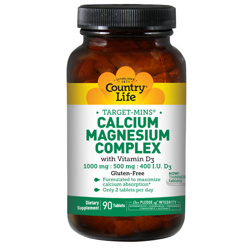 Calcium Magnesium Complex Vitamin D3 90 Tabs by Country Life