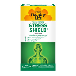 Stress Shield 60 Veg. Capsules by Country Life (2587301314645)