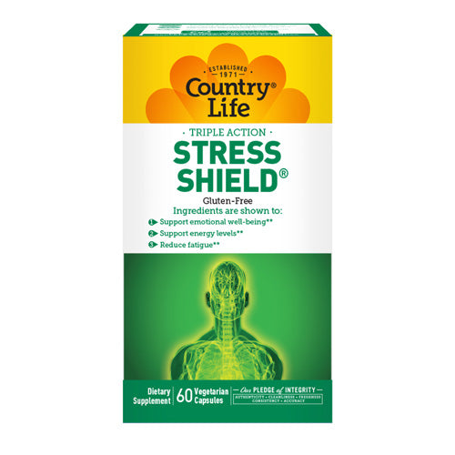 Stress Shield 60 Veg. Capsules by Country Life