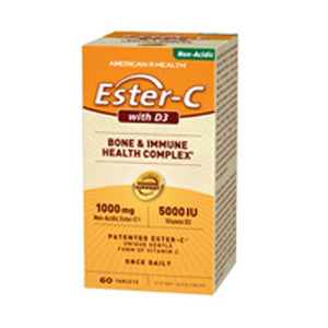 Ester-C With D3 60 Tabs by American Health (2587309244501)