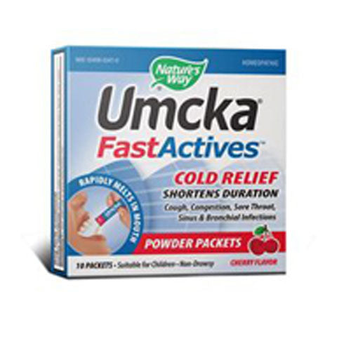 Umcka FastActives ColdCare Cherry 10 Pkts by Nature's Way