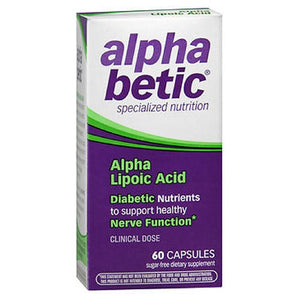 Alpha Betic Alpha Lipoic Acid Vitamin Capsules 60 caps by Enzymatic Therapy (2587324416085)