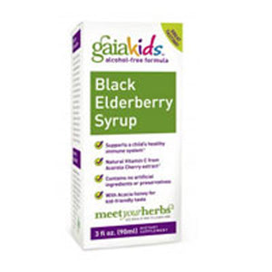 Black Elderberry Syrup 3 oz by Gaia Herbs (2587949432917)