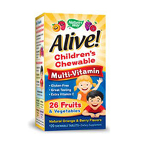 Alive Children's Multi-Vitamin Chewable Tablets 120 chews by Nature's Way (2587412791381)