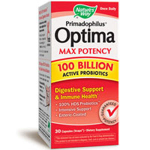 Primadophilus Optima Max Potency 100 Billion Active Probiotics 30 vcaps by Nature's Way (2587414691925)